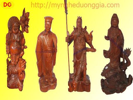 Tượng gỗ- Phật di lặc, Tượng Quan Cống, Phật Bà