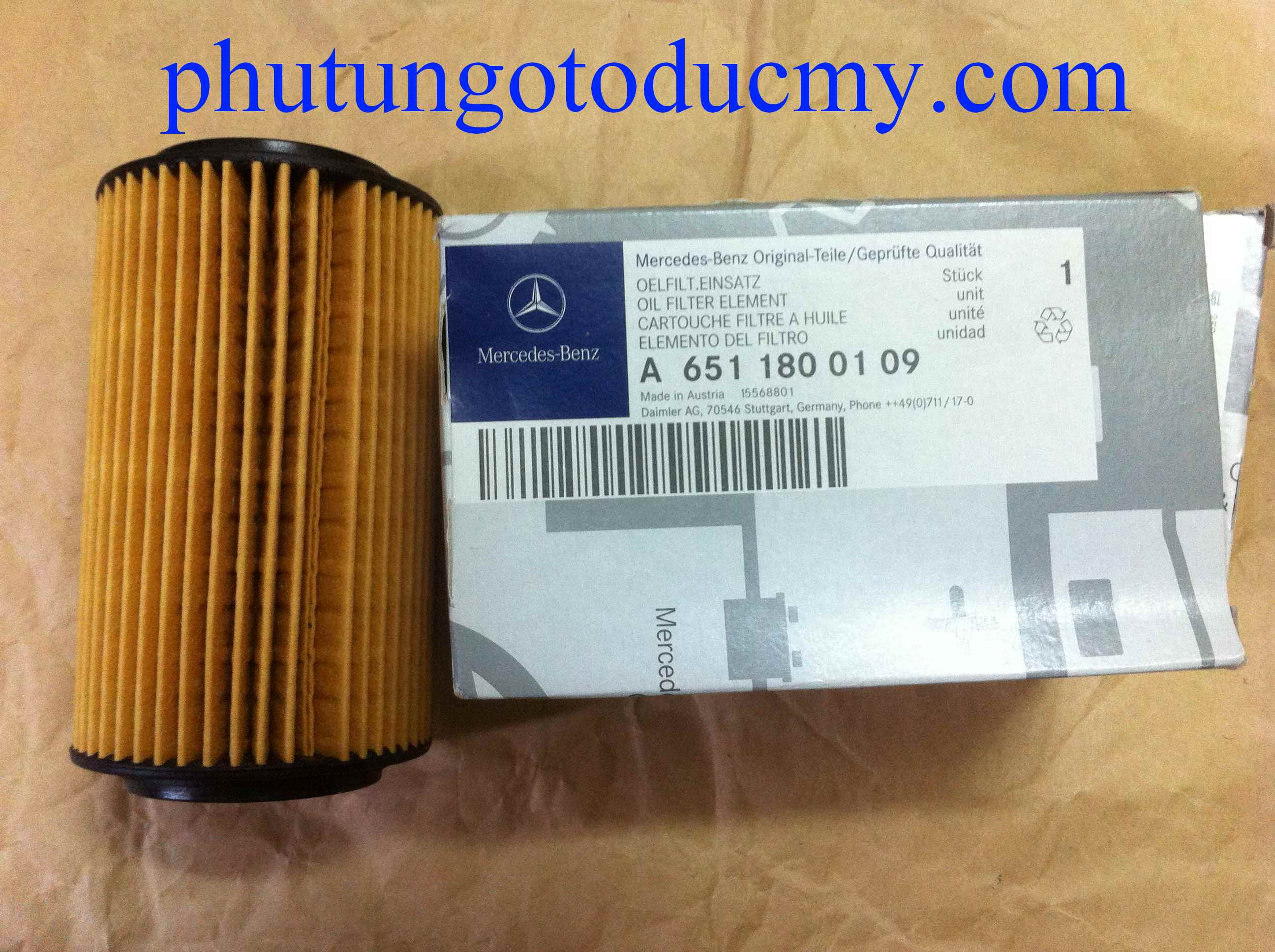 Lọc dầu Mercedes GLK220 CDI- A6511800109