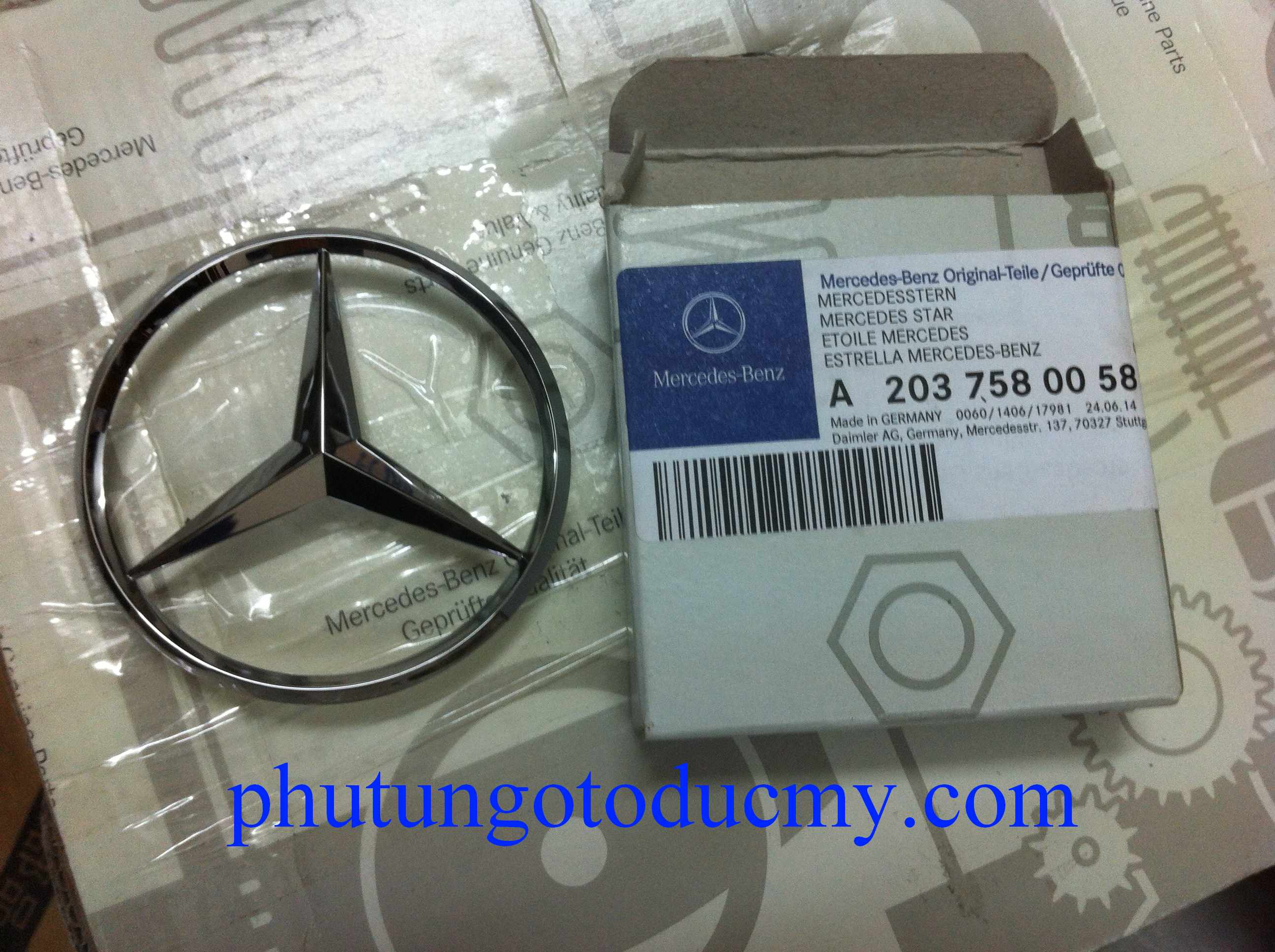 Logo cốp sau Mercedes C,E,S,GLK,GL class- A2037580058