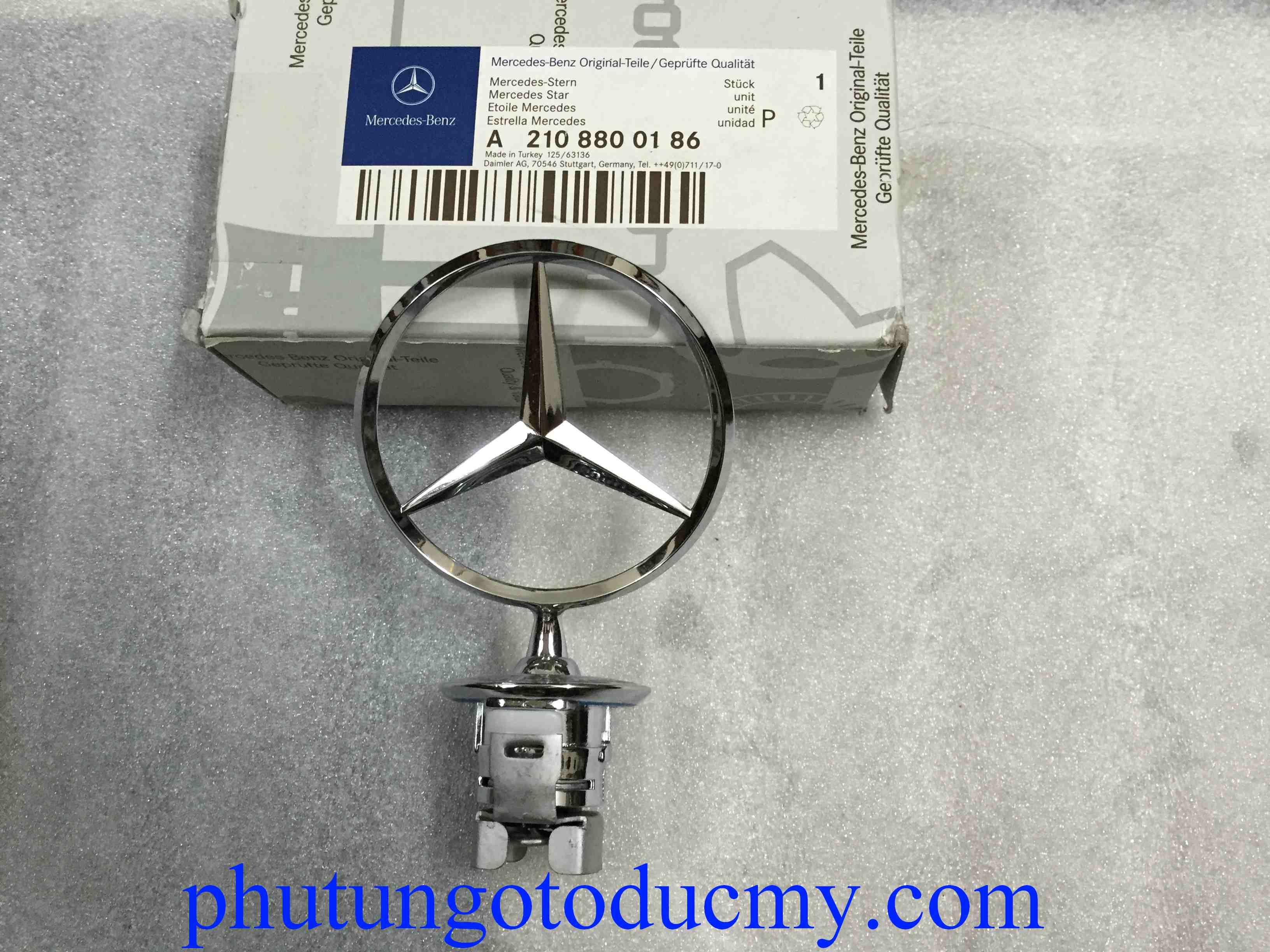 Logo nắp capo Mercedes C class W203, E class W211- A2108800186