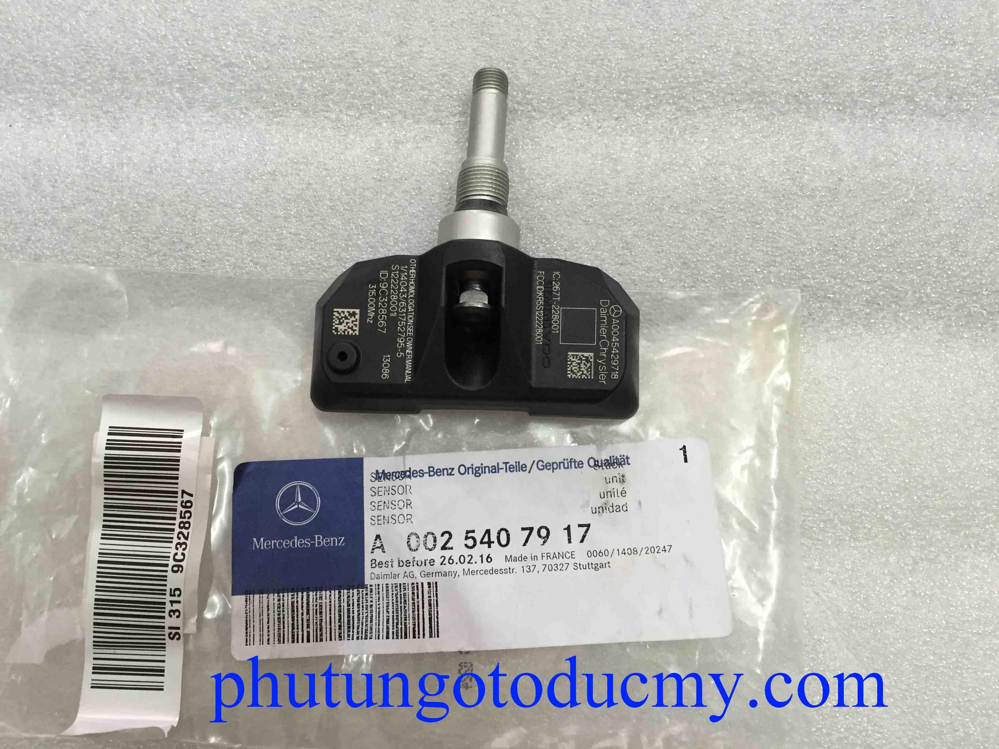 Cảm biến áp suất lốp Mercedes S350, S500 S550 W221-A0025407917