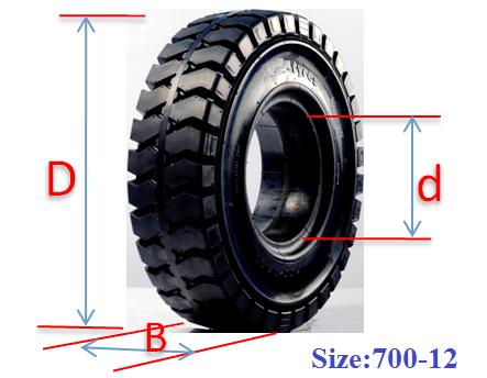 Lốp xe nâng, bánh xe nâng đặc hiệu Michio-Thái Lan