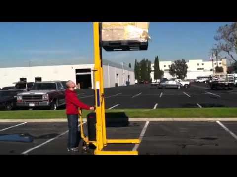 Xe nâng bán tự động Meditek chân khuỳnh SES10/45