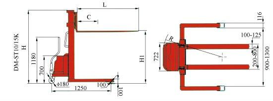 Xe nâng bán tự động Meditek chân khuỳnh SES10/50