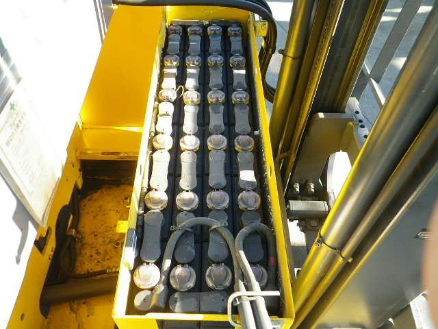 Xe nâng động cơ điện cũ FB10RL-14 (140862) tải trọng 1 tấn nâng cao 4 mét  sx đời 2008,chuyên dùng trong kho hàng, nhà máy, kho nhỏ hẹp