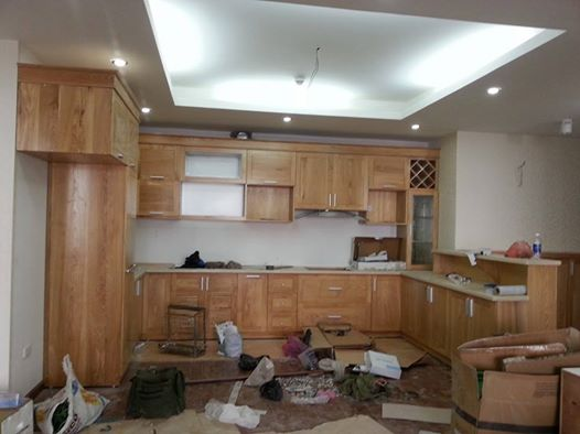 tủ bếp gỗ dổi đẹp, tủ bếp giá rẻ, tủ bếp thông minh, tủ bếp cao cấp