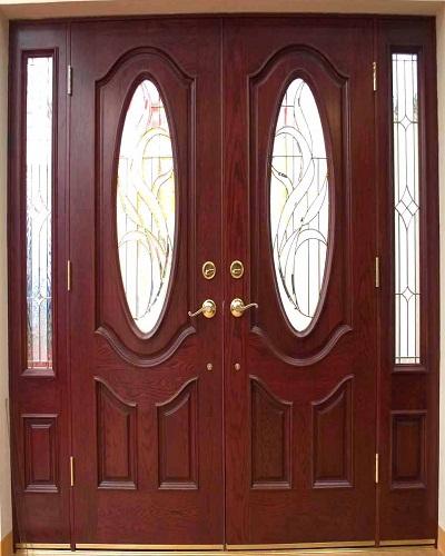 cửa đi 4 cánh gỗ hương
