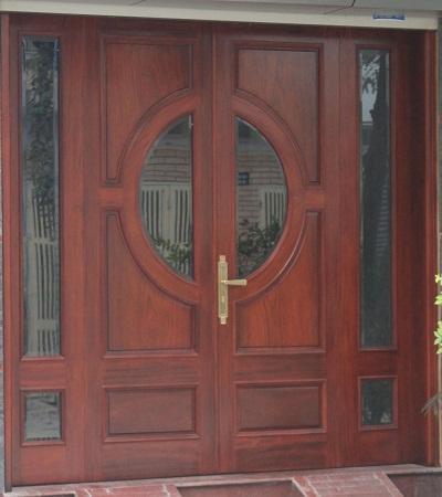 cửa đi 4 cánh gỗ lim nam phi