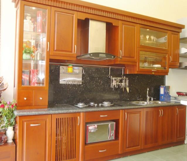 Tủ bếp xoan đào , tủ bếp gỗ tự nhiên, tủ bếp