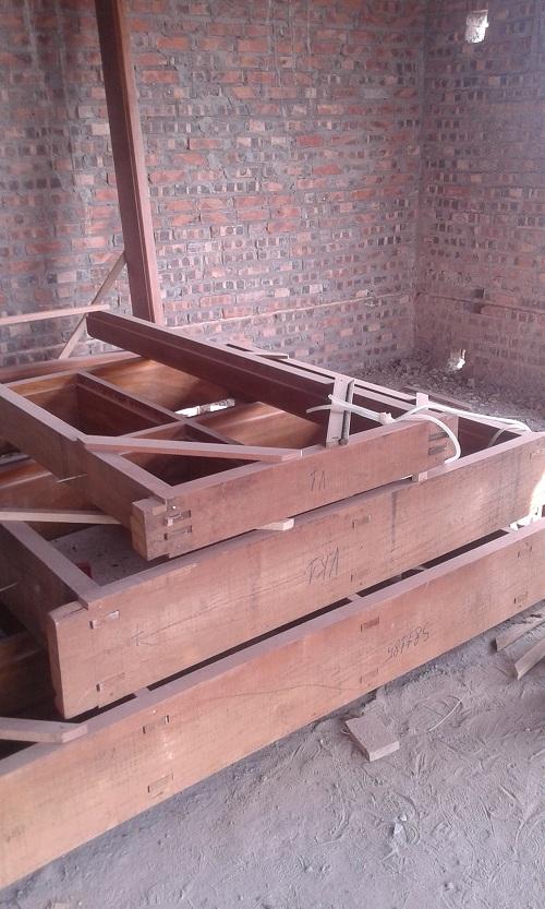 khung bao cửa gỗ lim