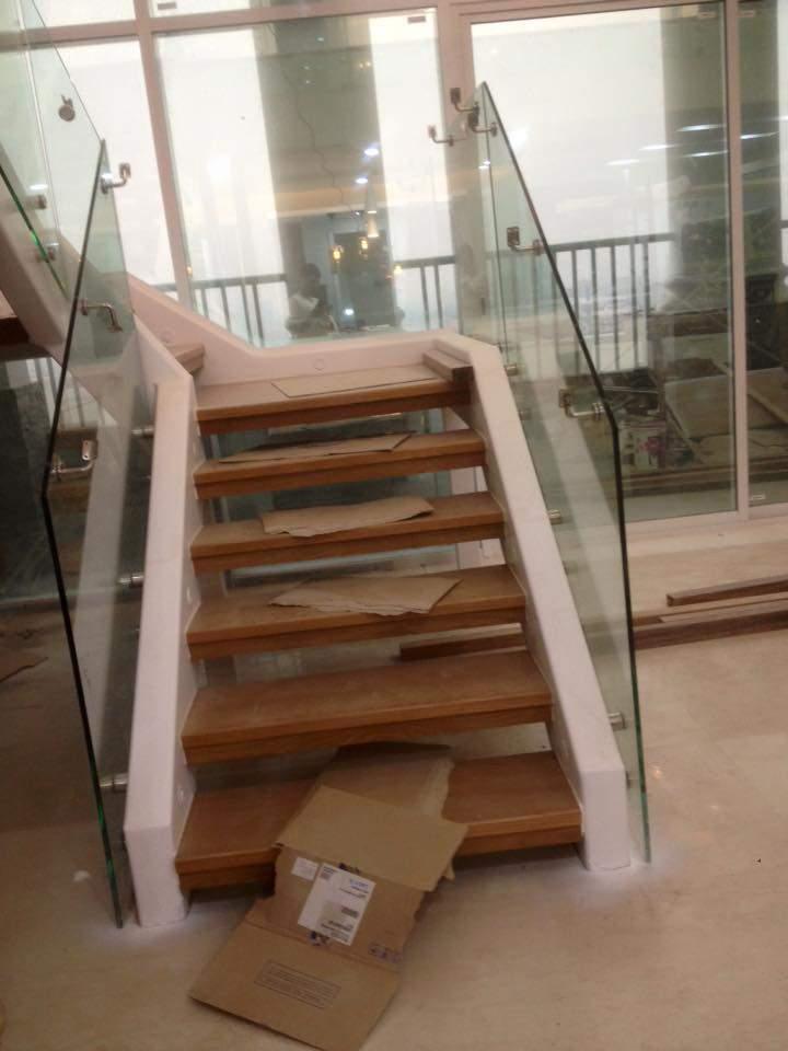 Mẫu cầu thang đẹp được thi công lắp đặt