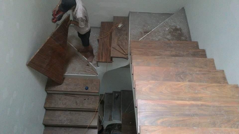 cách làm cầu thang gỗ, thi công cầu thang gỗ