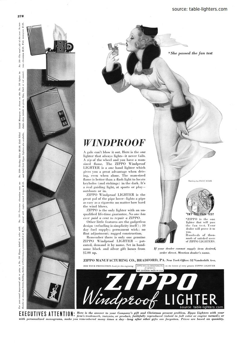 Zippo Windy Girl thu zippo truoc quat may
