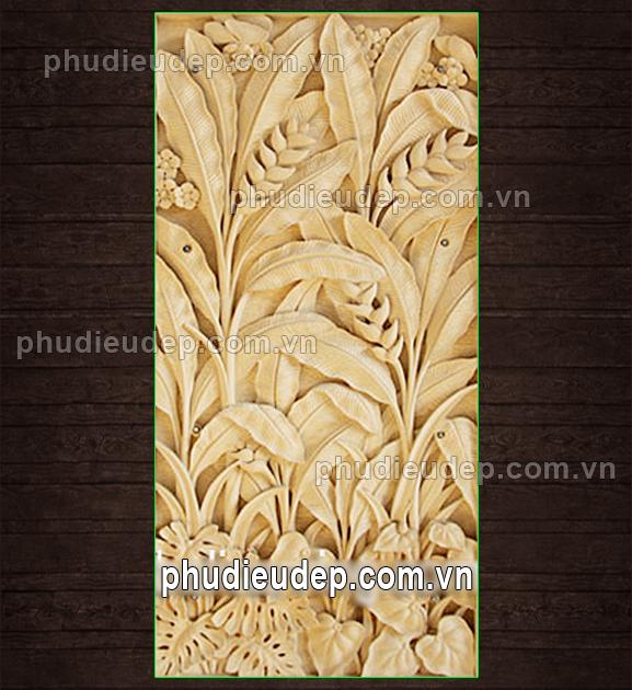 Phù điêu hoa chuối rừng 041 | Tranh phù điêu Hà Nội (Mỹ thuật TN)