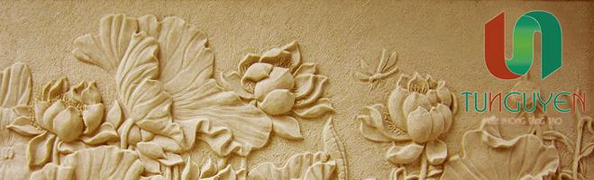, phu dieu hoa sen, phu dieu sen nằm trong danh mục phù điêu hoa lá và  đẹp