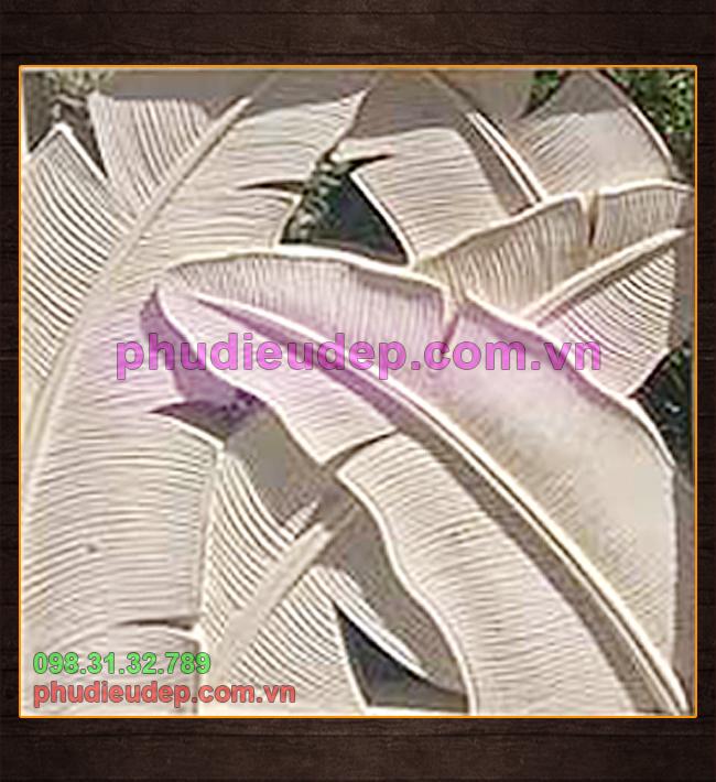 phù điêu lá chuối thuộc danh mục phù điêu hoa lá