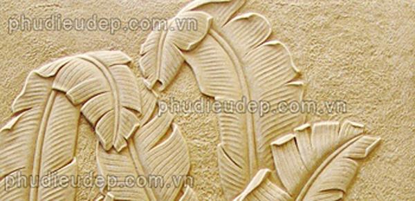 hình ảnh chi tiết sản phẩm phù điêu lá chuối