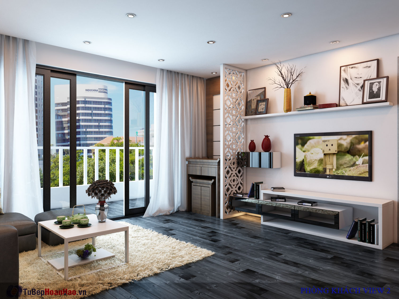 Thiết kế nội thất phòng ngủ chung cư Hòa Bình Green City