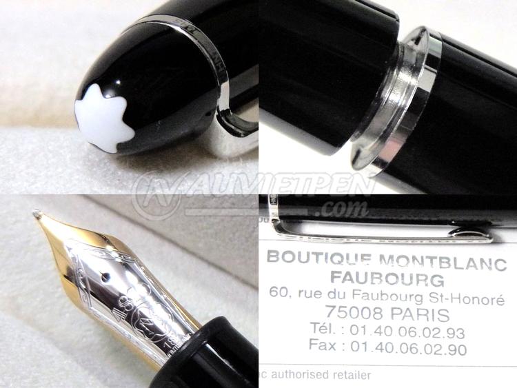 Bút máy Montblanc Meisterstück 146 cài bạc