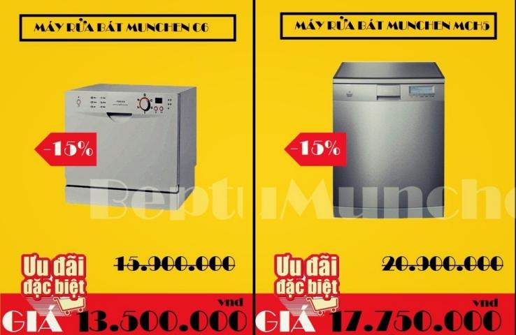 Khuyến mãi giảm giá khi mua máy rửa bát Munchen