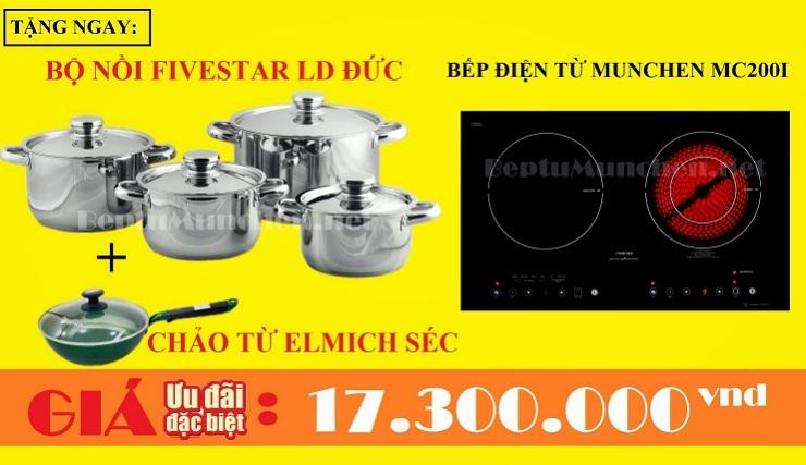 Mẫu bếp điện từ Munchen MC 200i giảm giá