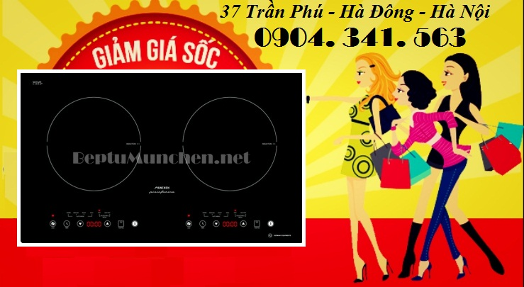 Chương trình khuyến mãi chậu cho bếp từ Munchen M50