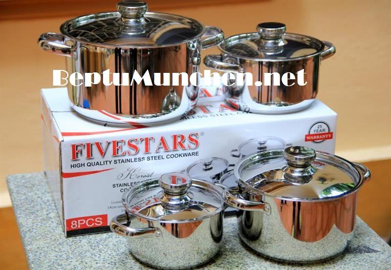 Bộ nồi Fivestar inox 5 đáy tặng kèm bếp từ Munchen M50