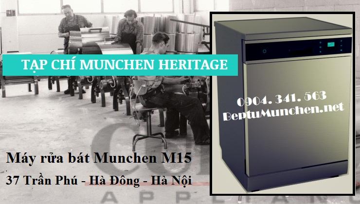 Máy rửa bát Munchen M15 giúp bát đĩa sạch bong dầu mỡ