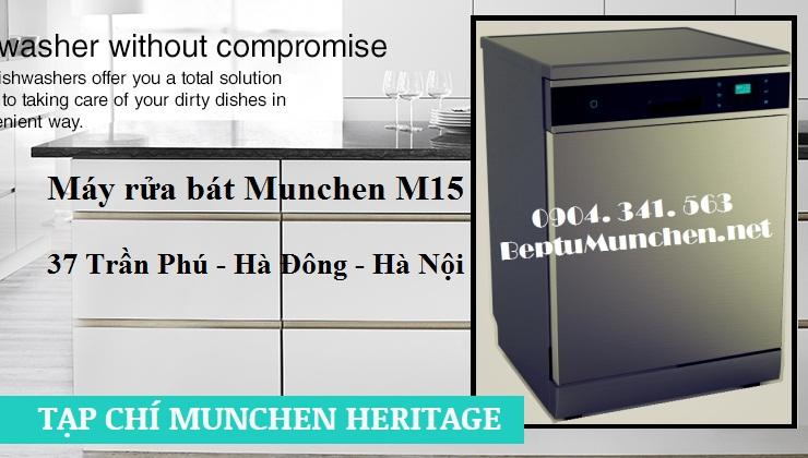 Máy rửa bát Munchen M15 có nhiều tiện ích đa năng