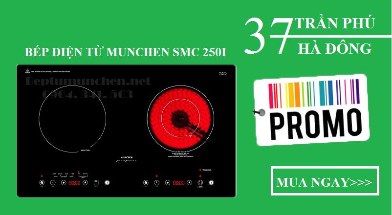 Bếp điện từ Munchen SMC 250I tiết kiệm năng lượng hiệu quả