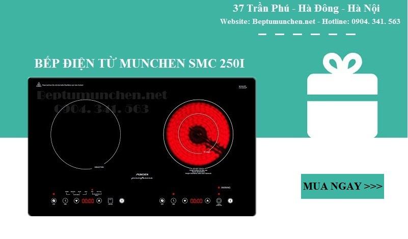 bếp điện từ Munchen SMC 250I sử dụng công nghệ induction zoneless