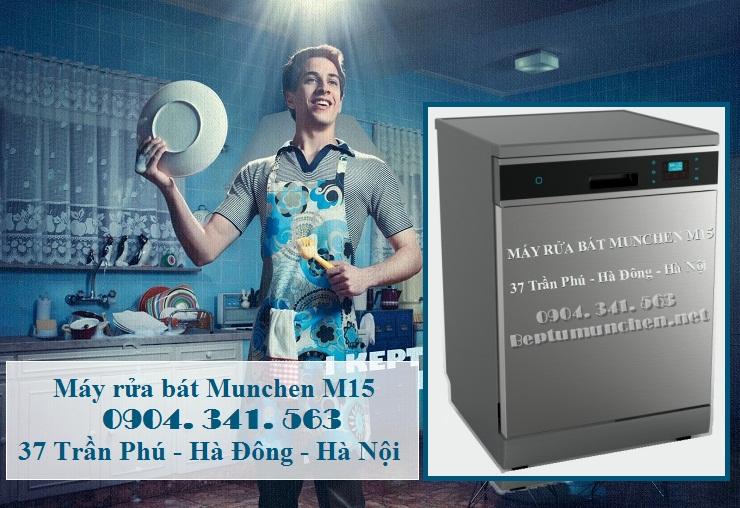 Máy rửa bát Munchen M15 có tới 8 chương trình rửa