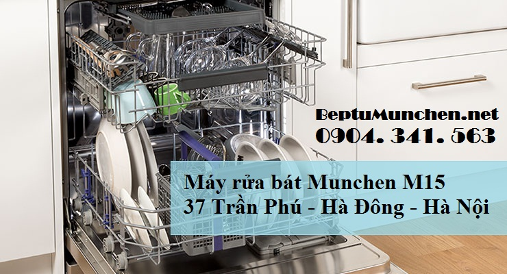 Máy rửa bát Munchen M15 tiết kiệm 40% điện năng