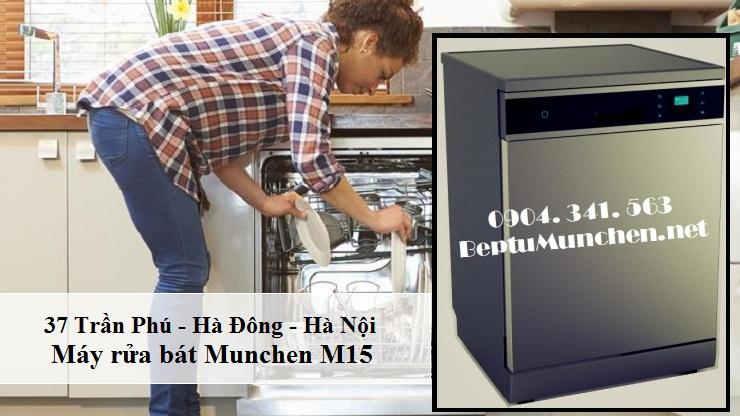 Máy rửa bát Munchen M15 tiết kiệm nước tối đa