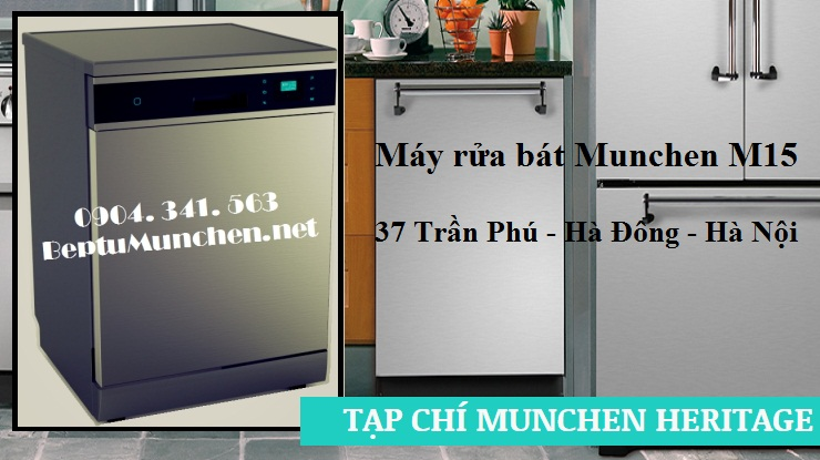 Chức năng rửa bán tải của máy rửa bát Munchen M15