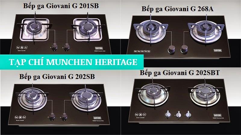 Trưng bày gần 20 mẫu bếp ga Giovani tại Nội thất Kường Thịnh