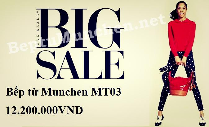 Bếp từ Munchen MT03 chỉ có giá 12.200.000VNĐ