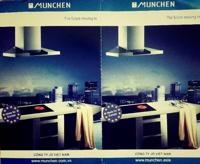 Mẫu thẻ bảo hành của bếp điện từ Munchen