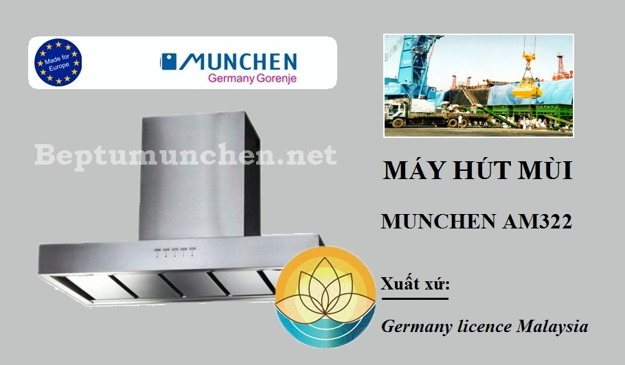 Máy hút mùi Munchen nhập khẩu chính hãng