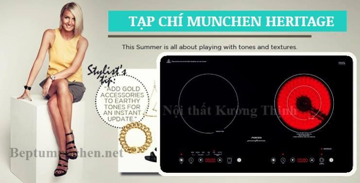 bếp điện từ munchen smc 250i có chức năng nhận diện nồi nấu