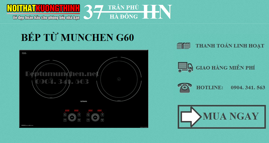 bếp từ munchen g60 xuất xứ châu Âu