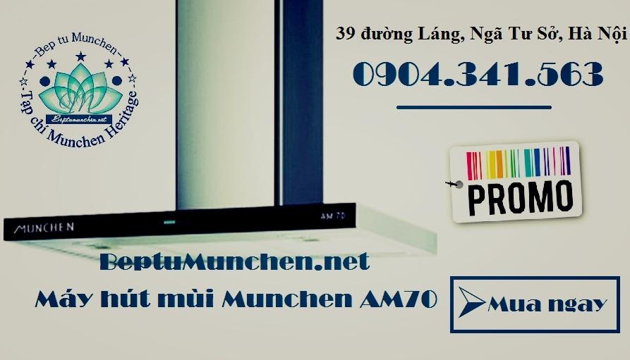 Máy hút mùi Munchen AM70 bảo hành 24 tháng