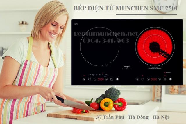 bếp điện từ munchen smc 250i nhập khẩu châu Âu