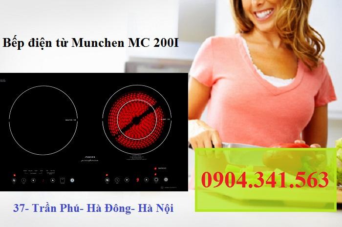 Bếp điện từ Munchen MC 200I với linh kiện IC5 tự san điện