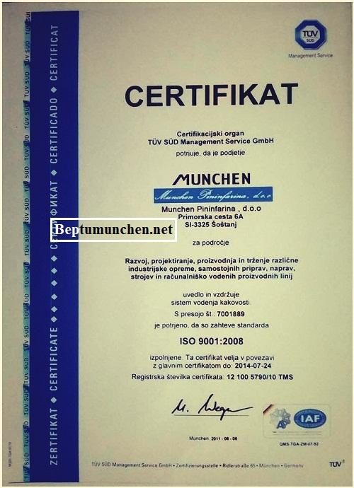 bếp từ Munchen có xuất xứ rõ ràng từ châu Âu
