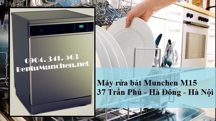Máy rửa bát Munchen M15 giúp bát đĩa sạch sẽ
