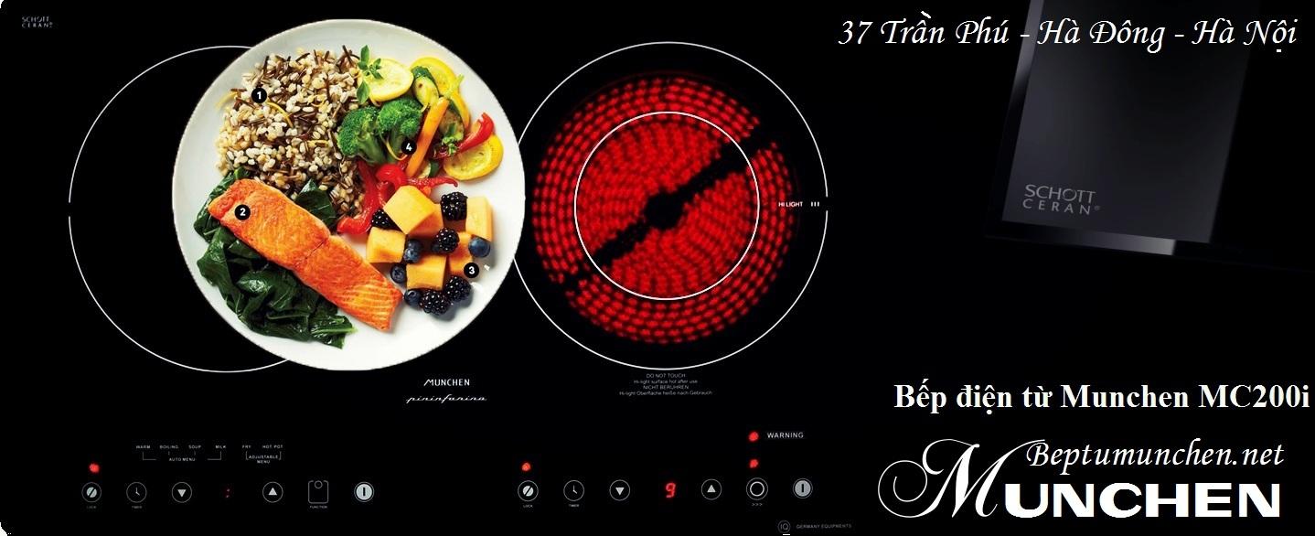 Sử dụng bếp điện từ Munchen trong nấu nướng