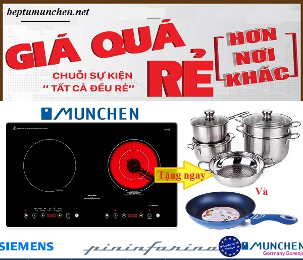 khuyến mãi bếp điện từ munchen smc 250i
