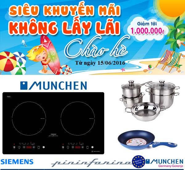 Khuyến mãi bếp từ Munchen M50