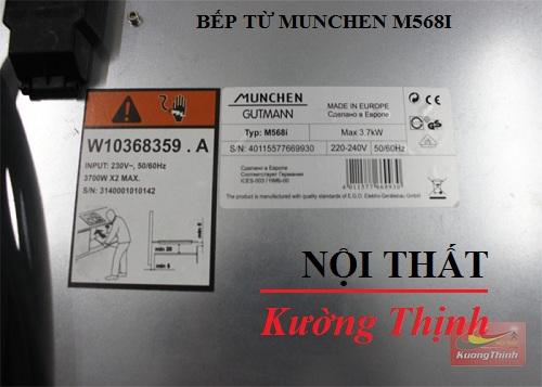 Bếp từ Munchen M568I có công suất bao nhiêu?